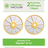 2 Washable & Reusable Dyson Style DC-07 Pre-Filters; Compare to Dyson Part No. 904979-02; Designed & Engineered by Think Crucial