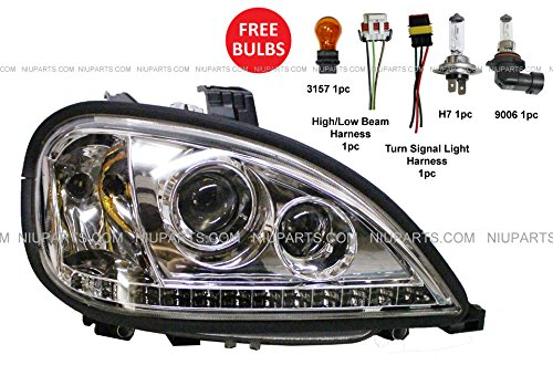 Freightliner Columbia Headlight with LED - Passenger Side