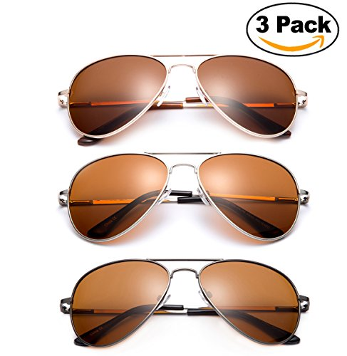 Polarized Night Vision Driving Glasses Yellow Amber Lens & Day Time Drving Sunglasses Copper Lens-Classic Aviator Style Glasses with Comfortable Spring Hinge Fit for Most People! (Save on - Tom Glasses Cruise
