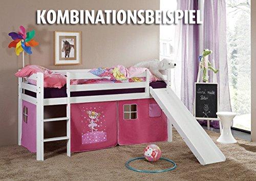 Kinderhochbett mit rutsche roller ROLLER Roller Hochbett TILO - weiß - Rutsche - Massivholz, weiß ...