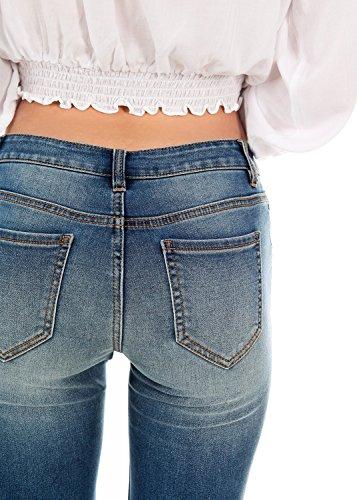 Liso Follo Clothing Para Mujer Vaqueros Skinny gwHT4wzq