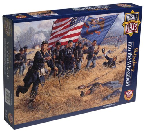 Gettysburg Into the Wheatfield 550 Piece Puzzle Master Pieces 60208
