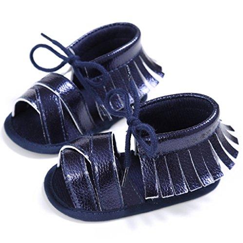 Bebé Prewalker Zapatos Auxma Niñas Sandalias de Verano Sandalias Zapatos Princesa Caminantes Prewalker Azul
