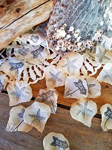 Beach Wedding Table Decorations, Flower Petals For Wedding, Beach Theme Party Decorations, Confetti, Beach Bridal Shower Decor]()