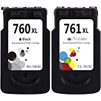 LEBOK Remanufactured Ink Cartridges 760XL 761XL for Canon PG-760XL CL-761XL Fine Ink Cartridges for Canon Pixma TS5370…