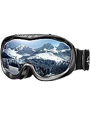 ENKEEO Skibrille Schneebrille Snowboardbrille 100% OTG UV-Schutz Motorradbrillen Anti-Fog Staubschutz Wintersport Brille für Damen, Herren und Jungen