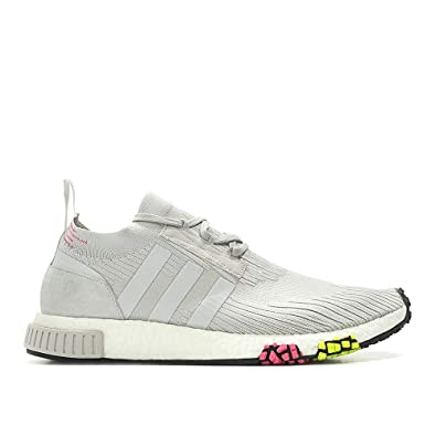4ac1753639eb0 adidas NMD Racer Primeknit Men s Shoes Grey One Solar Pink cq2443 (8 D(M