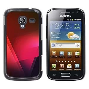 Caucho caso de Shell duro de la cubierta de accesorios de protección BY RAYDREAMMM - Samsung Galaxy Ace 2 I8160 Ace II X S7560M - Black Pink Red Polygon