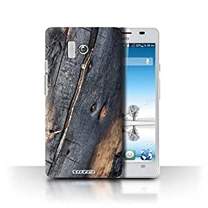 STUFF4 Phone Case / Cover for Huawei Honor 3 / Burnt Wood Design / Tree Bark Collection