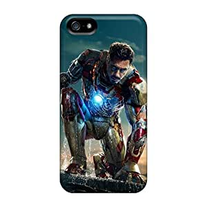 ErleneRobinson Iphone 5/5s Shock Absorption Hard Phone Cover Unique Design Lifelike Iron Man 3 New Image [wOt13612wcan]