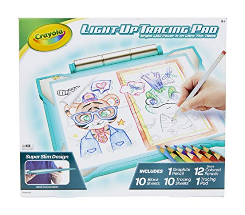Crayola Light Up Tracing Pad Teal, Amazon Exclusive, Toys, Gift for Kids, Ages 6, 7, 8, 9, 10