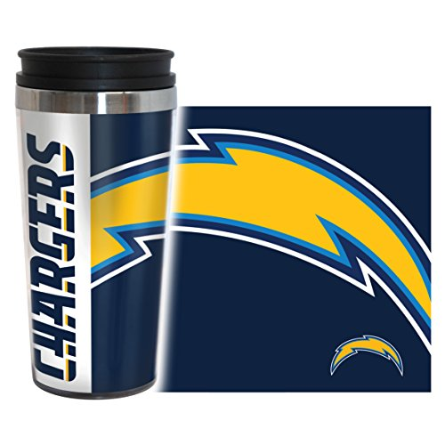 rs Hype Travel Tumbler, 16-ounce, Blue (San Diego Chargers Tumblers)