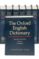 The Oxford English Dictionary (20 Volume Set) (Vols 1-20)