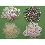 Xbox 360 Bulk X-Clamp Replacement Repair Kit - Hardware for 12 units - 100 screws 200 metal washers 200 nylon washers & 12 blister packs of Stars Thermal Paste