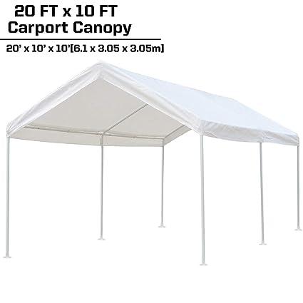 Carport Car Canopy Portable Garage Shelter for Auto and Boat  sc 1 st  Amazon.com & Amazon.com: KdGarden 10 x 20 ft. Carport Car Canopy Portable Garage ...