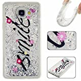 KSHOP Samsung Galaxy G530 Case , Liquid Case Bling Glitter Flowing Floating Water Swimming Case, Premium Ultra Slim Silicone Soft Flexible Durable Cover TPU Scratch Resistant High Quality Back Shell-Silver Smile