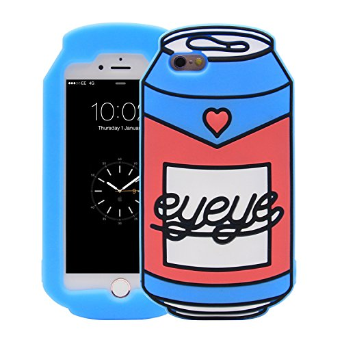 iPhone 6S Case, MC Fashion Cute Cool 3D Soda Can Shape Protective Soft Silicone Phone Case Compatible for Apple iPhone 6S (2015) & iPhone 6 (2014) (Soda - Case Soda
