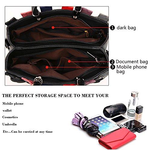 Deep Purple Bear Messenger Woven Shoulder with Handbag Fashion Tisdaini Bag Bag Purse Color hit wqxO7UnT4v