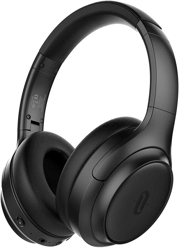 TaoTronics Active Noise Cancelling Headphones [2019 Upgrade] Bluetooth Headphones SoundSurge 60 Over Ear HeadphonesSound Deep Bass, Quick Charge, 30 Hours Playtime for Travel Work TV PC Cellphone