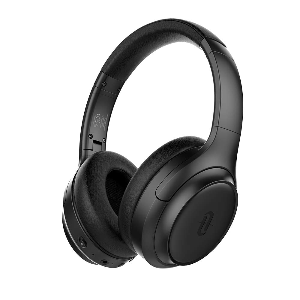 TaoTronics Active Noise Cancelling Headphones [2019 Upgrade] Bluetooth Headphones SoundSurge 60 Over Ear Headphones  Sound Deep Bass, Quick Charge, 30 Hours Playtime for Travel Work TV PC Cellphone by TaoTronics