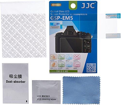 JJC GSPEM5 Tempered 9H Hardness Optical Glass Screen Protector for Olympus OM-D E-M5 Digital Camera (Clear) (Best Of Omd Vinyl)