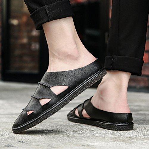 Mocasines Paseo Negro Microfibra Casual Los Casuales Mens Resbalón En Zapatillas Transpirable De Hombres Zapatos 0wwE7Oq