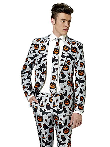 Suitmeister Halloween Costumes for Men – Grey Icons - Include Jacket Pants & Tie for $<!--$59.99-->