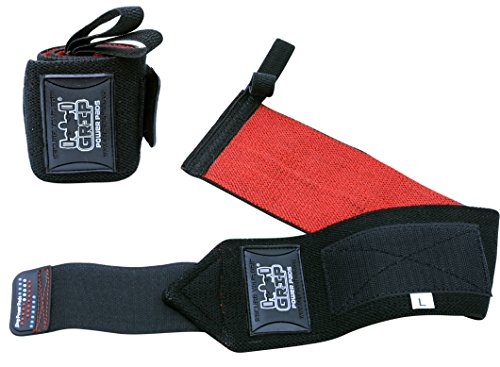 Deluxe Wrist Wraps 13' Long (1 Pair /2 Wraps) for WEIGHT LIFTING TRAINING WRIST SUPPORT COTTON WRAPS GYM BANDAGE STRAPS BLACK For Men & Women - Premium Quality & PRO Rubber. (Black, 13' Inches)