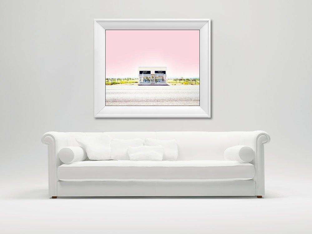 Prada Marfa Photograph pink sunset desert home decor