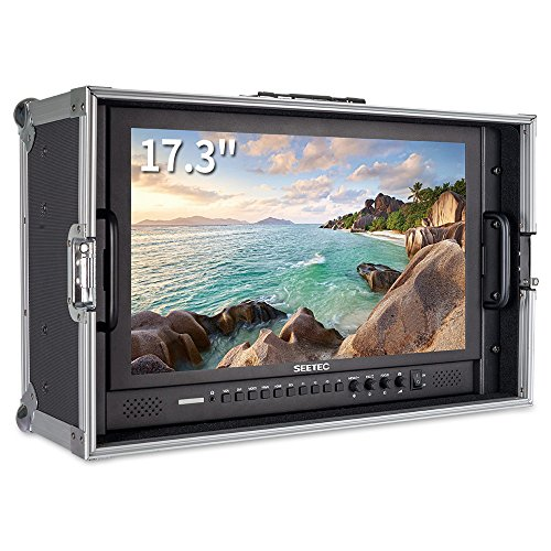 SEETEC P173-9HSD-CO 17.3 Inch 1920x1080 Carry-on Monitor Director Broadcast Monitor Aluminum Design with 3G-SDI HDMI AV YPbPr - Fedex International Times Shipping