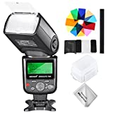 Neewer 750II TTL Speedlite Flash Kit with Hard Diffuser, 12 Color Filters, Microfiber