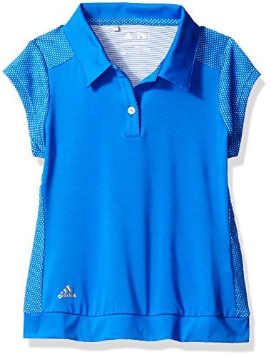 Adidas Two Button Polo Shirt (adidas Golf Girls Micro Dot Polo Shirt, Blue, Medium)
