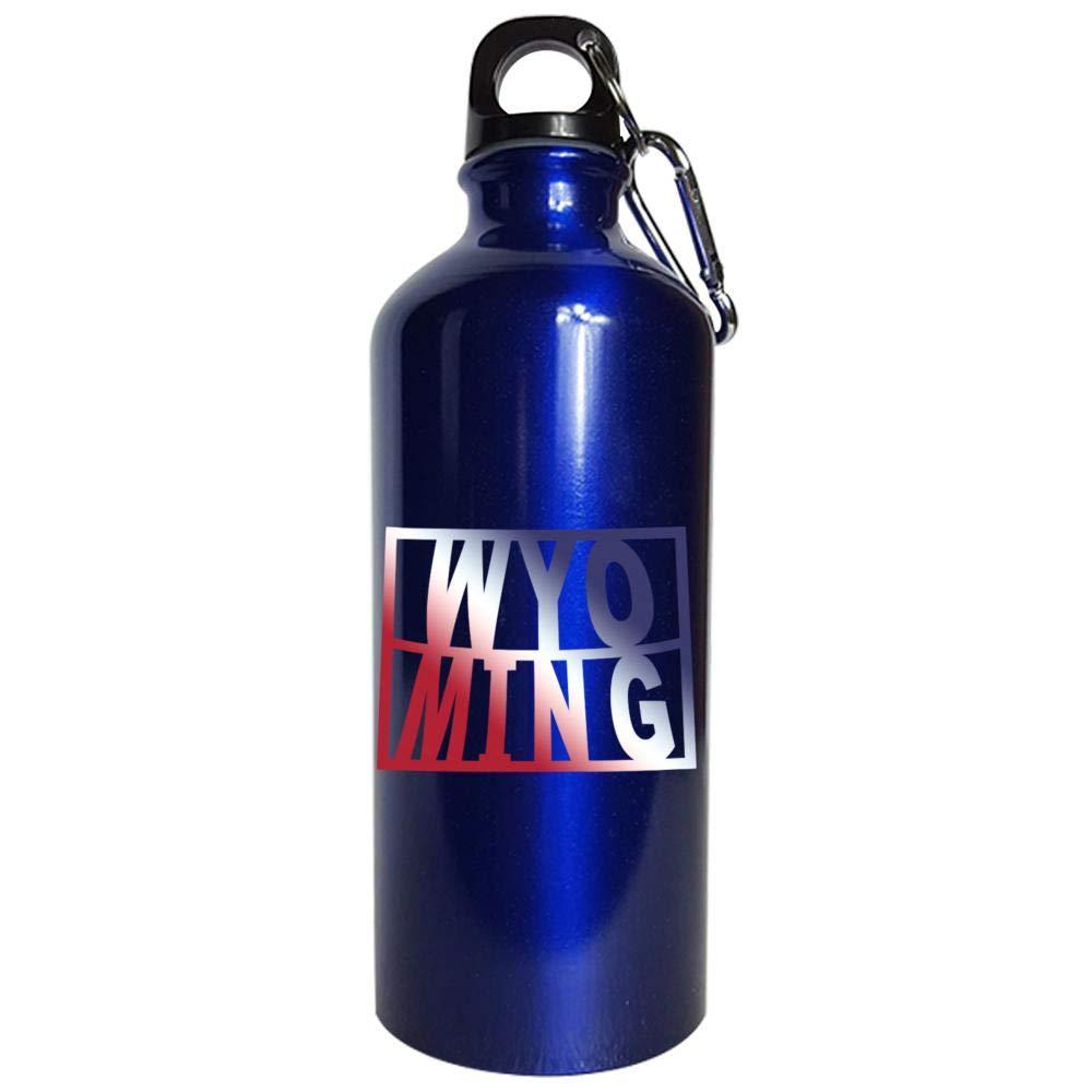 Wyoming USA 4th State Pride - Water Bottle Metallic Blue
