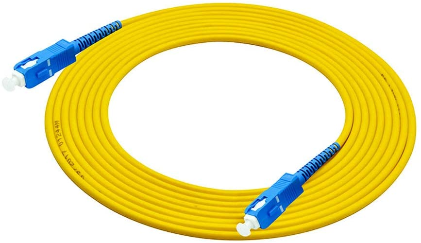 Jeirdus 15M ST to ST Indoor Armored Duplex 9//125 SM Fiber Optic Cable Jumper Optical Patch Cord Singlemode 15Meters 49ft ST-ST