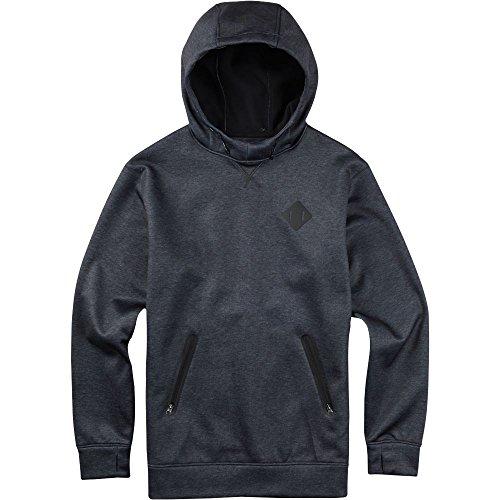 burton-mens-crown-bonded-pullover-hoodie-large-true-black-heather