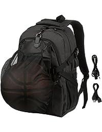 8acd189b6b8e Mens Basketball Backpack Football School Backpack Sports Backpacks Travel  Daypack Practical Laptop Backpack with Basketball Net