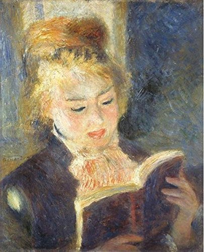 Oil Painting 'Pierre-Auguste Renoir-The Reader,1875' Printing On Perfect Effect Canvas , 12x15 Inch / 30x38 Cm ,the Best Kitchen Decor And Home Artwork And Gifts Is This Best Price Art Decorative Canvas (Cheetah Print Lip Tattoos)