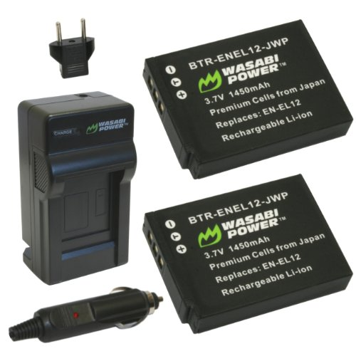 Wasabi Power Battery (2-Pack) and Charger for Nikon EN-EL...