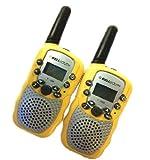 A Pair Zastone T-388 Mini Walkie Talkie 1W 462-467MHz Two Way Radio Yellow