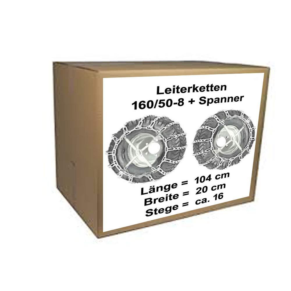Schneeketten fü r Rasentraktor Stiga Villa 520 HST + 320 HST mit 160/50-8 Reifen vsk