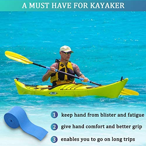 Alomejor 2PCS Kayak Paddle Grips Neopreno Antideslizante Paddle Grips Prevenir para Canoa Barco Kayak Deportes Acu/áticos