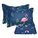 Ustide Flamingo Quilt Cover Set Girls Duvet Cover Set Blue, Double Size