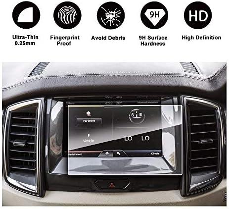 XHULIWQ 8インチ車のGPSナビゲーション9 H強化ガラス保護フィルム、フォードエンデバーSync2 Sync3 2016-2018
