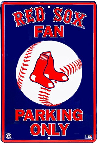 Red Sox Parking Tin Sign 12 x 18in ()