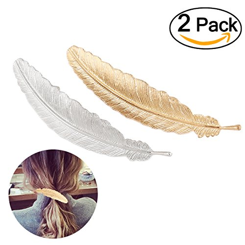 Tinksky Feather Shaped Accessories Pack Golden