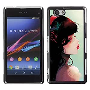 Be Good Phone Accessory // Dura Cáscara cubierta Protectora Caso Carcasa Funda de Protección para Sony Xperia Z1 Compact D5503 // Cute Fantasy Girl