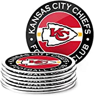 NFL Eight Pack Stripe Coasters (Kansas City Chiefs)