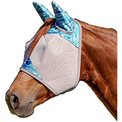 Cashel Designer Fly Mask With Ears - Style: Blue Watercolor Size: Horse