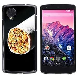 Be Good Phone Accessory // Dura Cáscara cubierta Protectora Caso Carcasa Funda de Protección para LG Google Nexus 5 D820 D821 // Cigarette Tobacco Black Minimalist Smoking