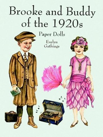 Brooke and Buddy of the 1920s Paper Dolls